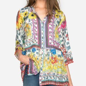 Johnny Was Theda Silk Tunic Petite NWT  L, XL, XXL